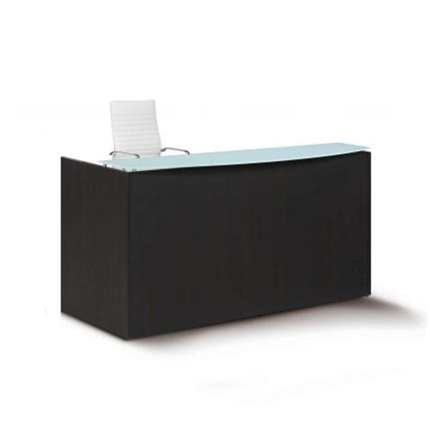 Reception Desk Glass Reception Desk With Glass Top Mcaleer S Office Furniture