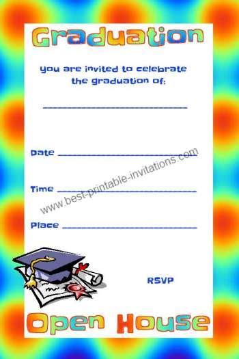 free open house graduation invitation invitations