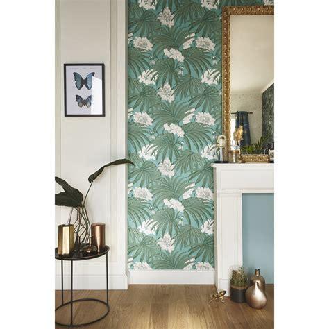 Tapisserie Leroy Merlin by Papier Peint Intiss 233 Palm Leaves Vert Leroy Merlin