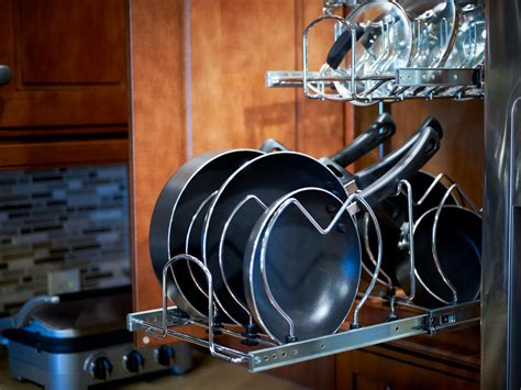 cookware bakeware pots pans food storage knives how to store cookware knives and kitchen gadgets hgtv