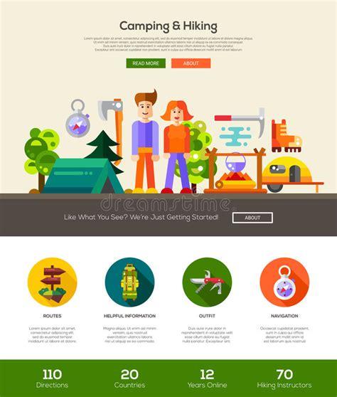 header design elements cing hiking website header banner with webdesign