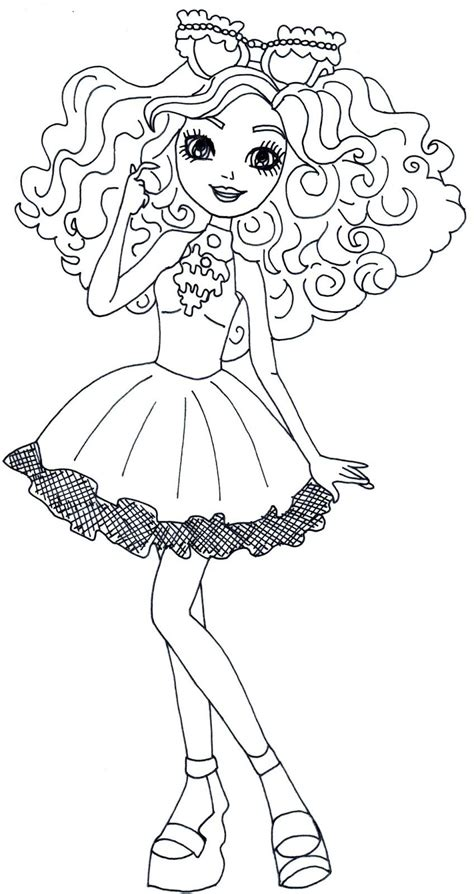 ever after high coloring pages pdf free printable ever after high coloring pages madeline