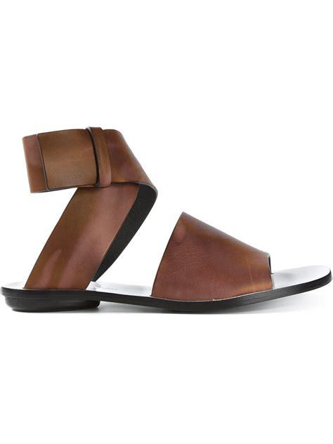 proenza schouler sandals proenza schouler coiled sandals in brown lyst