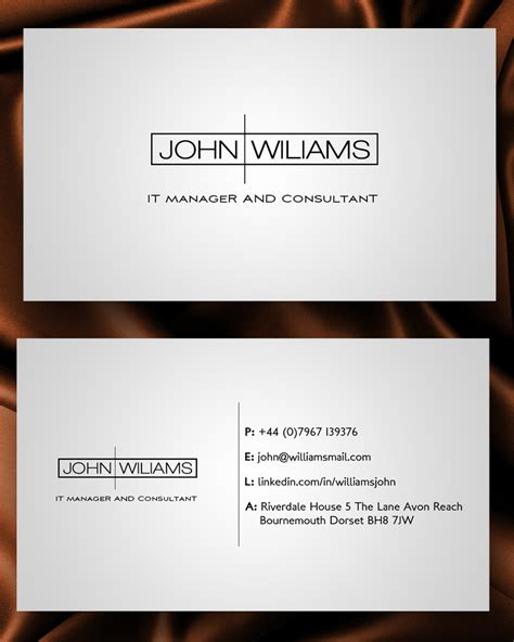 Business Card Templates For Unemployed by Business Business Card Design For A Company By Junaid