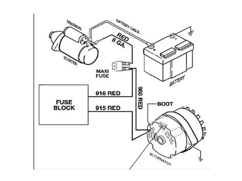 wiring diagram for 3 wire gm alternator diagram