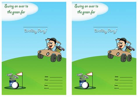 free printable golf stationery golf birthday invitations birthday printable