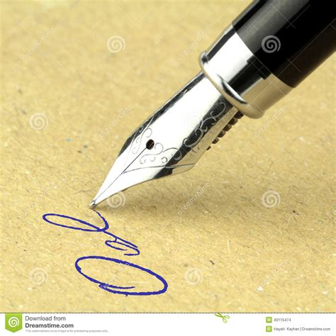 writing pen and paper pen writing on the paper stock photo image