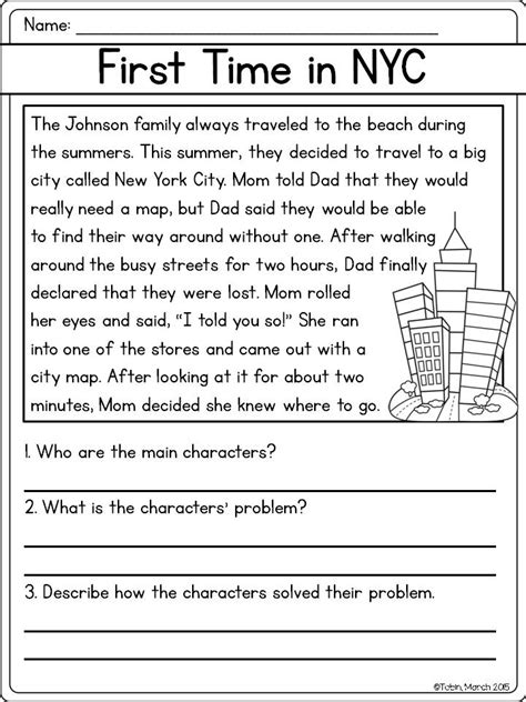 Problem And Solution Reading Worksheets | character response rl2 3 third grade reading common