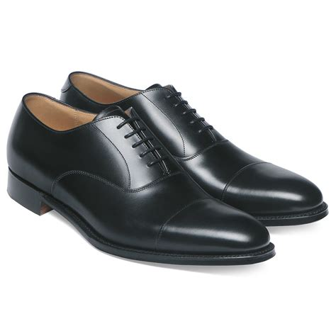 cheaney lime s black leather oxford shoe made in