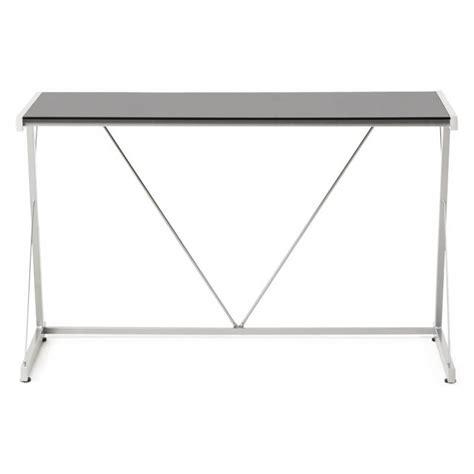 bureau design verre metal bureau design bary en verre et m 233 tal noir transparent