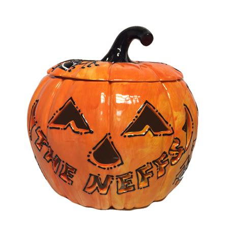 pumpkin name name carved pumpkin large as you wish pottery