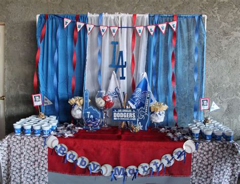 Dodger Decorations by Baseball Baby Shower Quot Dodgers Baseball Quot Catch