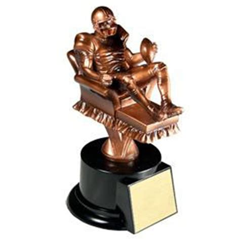 fantasy football armchair trophy fantasy football armchair quarterback trophy