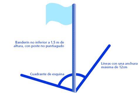 cuanto mide una cuerda de terreno en metros en guatemala reglas del f 250 tbol el terreno de juego elfutbolin com