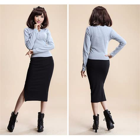 Rok Mini Wanita Slim Hip Skirt All Size Hitam rok pensil wanita slim hip pencil skirt all size black jakartanotebook