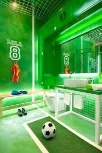 Sports Themed Bedroom Decor Dise 241 O De Cuarto De Ba 241 O Para Ni 241 Os