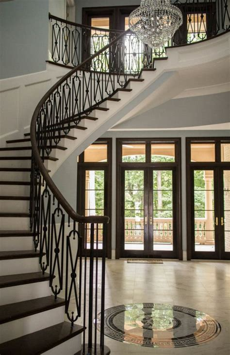 curved stairs wrought iron stair railing wrought iron