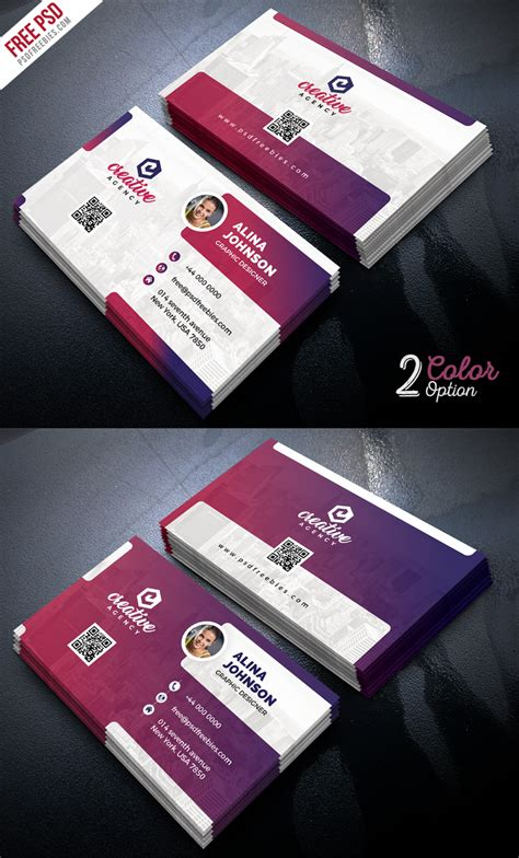 creative business card templates psd creative business card template psd set psdfreebies