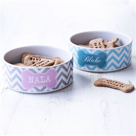 personalised bowls personalised pet bowl chevron by we to create notonthehighstreet