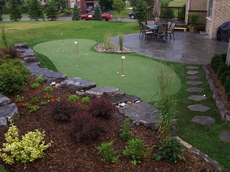 putting green in the backyard home decorating ideas