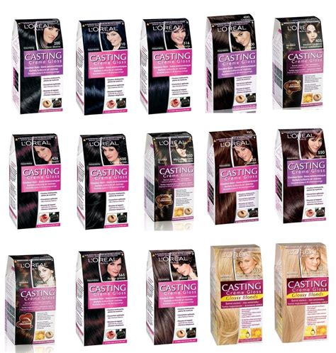 l oreal creme gloss 15 different shade hair color
