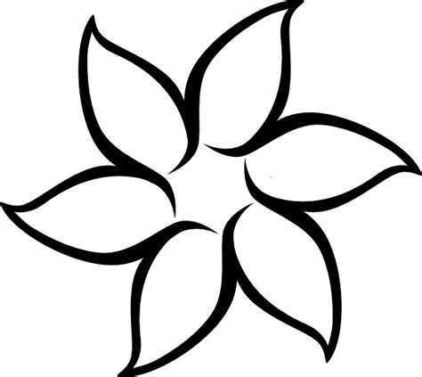 Flower Outline Black And White black flower outline clip at clker vector clip royalty free domain