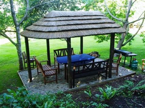 thatch tile umbrellas thatched garden shelter structures