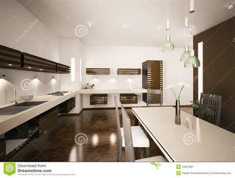 modern kitchen interior 3d rendering interior of modern kitchen 3d render stock image image