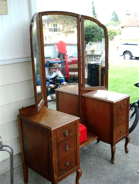 Antique 3 Mirror Vanity by Vanity Thy Name Is Worthpoint