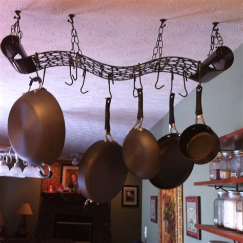 Metal Wall Pot Rack Inexpensive Metal Wall Purchased At Gordman S Turned