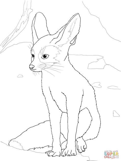 coloring pages fennec fox fennec coloring online super coloring