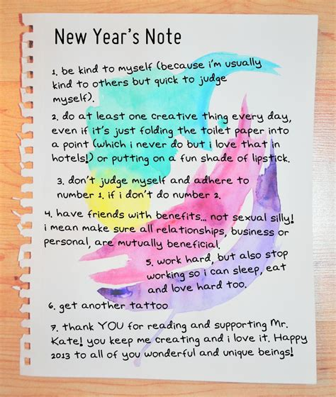 mr kate new year s note