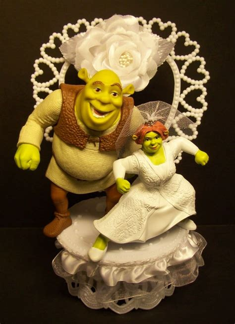 shrek  fiona wedding cake topper idea   bella