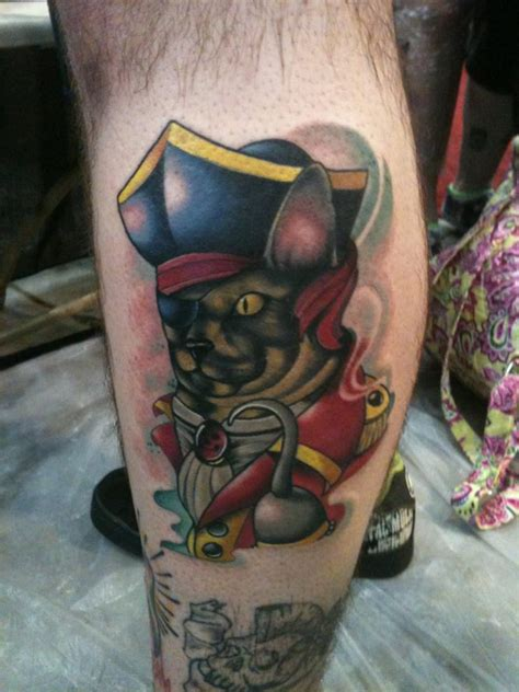 neo trad cat tattoo neo traditional pirate cat tattoo by nelby2388 on deviantart
