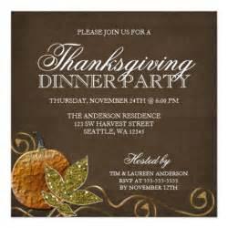 thanksgiving dinner invitation wording sles thanksgiving dinner invitations zazzle
