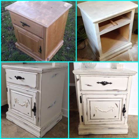 painting wood furniture ideas my diy shabby chic nightstand furniture makeover painted