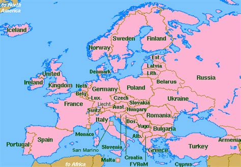 europe map all countries the world wide web library oceanography europe