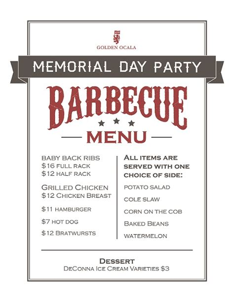 Cpwm Memorial Day Bbq Menu by Memorial Day A Time For Family Reflection