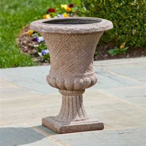 Traditional Planters by Alfresco Home Canestro Urn Planter Marrone Traditional