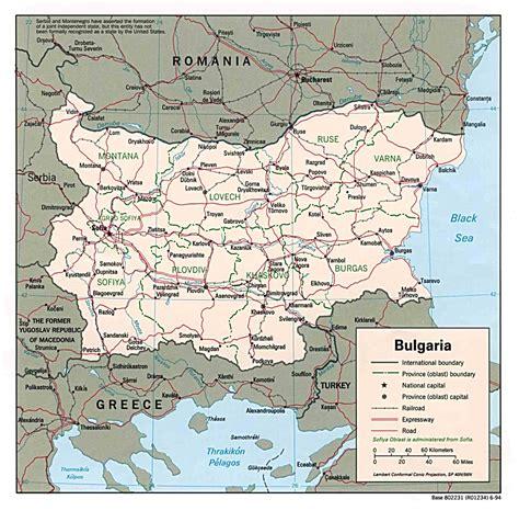 map of bulgaria bulgaria