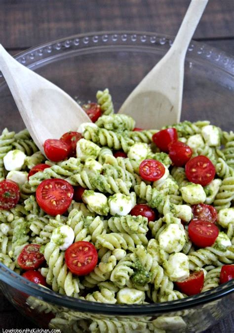 pesto salad pesto pasta salad love to be in the kitchen