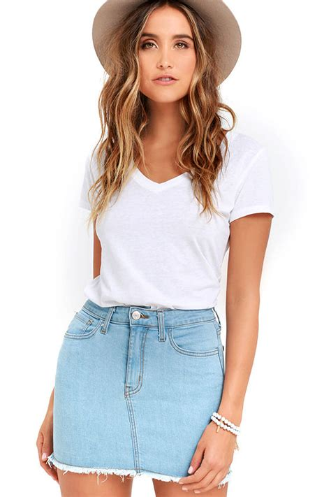 Pop Skirt denim skirt mini skirt high waisted skirt 44 00