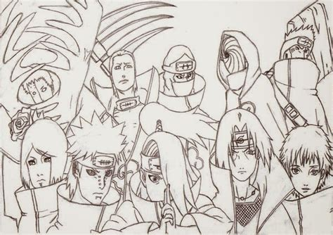 naruto coloring pages akatsuki akatsuki coloring pages