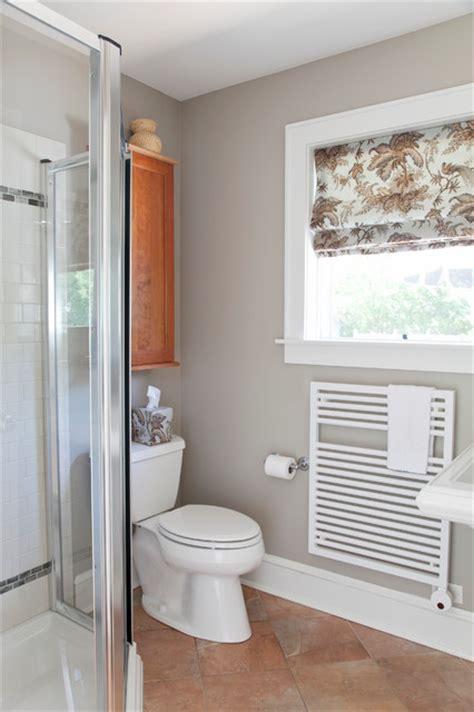 Bathroom Glass Shower Ideas Towel Radiator Warms A Small Bathroom Transitional