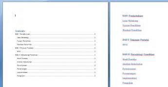 cara membuat daftar isi dan nomor halaman cara memisahkan halaman di dokumen dan membuat cara