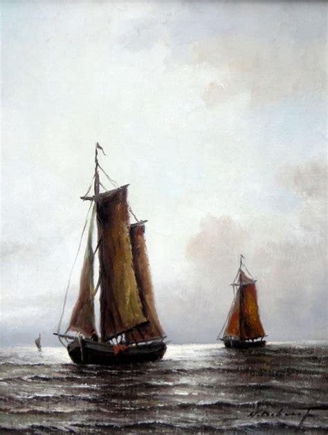 zeilboot op zee hugo debeuf 20 e eeuw zeilboten op zee