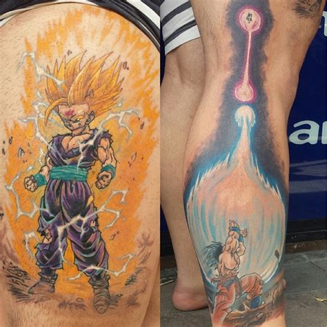 dbz tattoo ideas gohan and goku ink by steve butcher