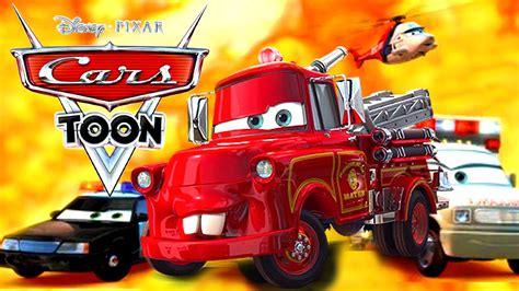 gorro tejido de mate de cars diseo imgenes cars toon rescates mate los cuentos de mate bombero disney