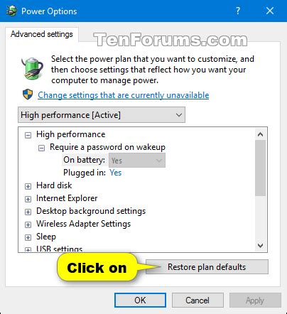 resetting battery windows 7 reset and restore power plans to default settings in