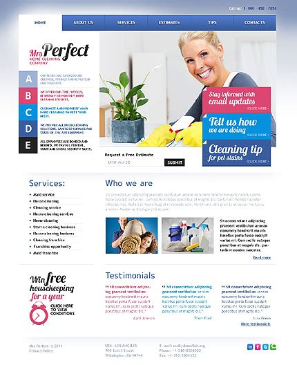 Top 5 Housekeeping And Cleaning Service Templates Cleaning Service Website Template